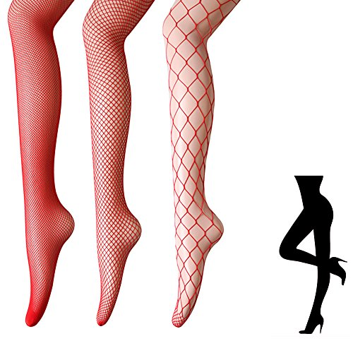 Women's Fishnet Thigh high Stockings - 4 or 3 Pairs of Sexy Fishnets Bodystockings Pantyhose Tights For Party, Dancing (Height: 5'0