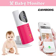 Clever dog Wireless security wifi cameras/Smart Baby Monitor/Surveillance security camera with P2P, Night Vision, Record Video, Two-way Audio,Motion Detection,Iphone Ipad Android(with adaptor) (Pink)