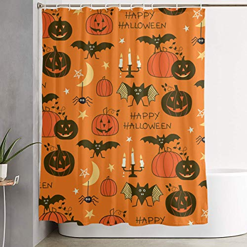 POP MKYTH Luxurious Happy Halloween Party Patterns Water-Repellent Fabric Shower Curtain Mildew Resistant, Antibacterial Bath Curtains Bathroom Decoration Decor, 60x70 -