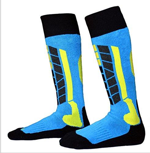 Kids Winter Ski Socks Outdoor Sports Snowboard/Skiing Warm Knee-High Performance Sock EU31-34 by Yundxi