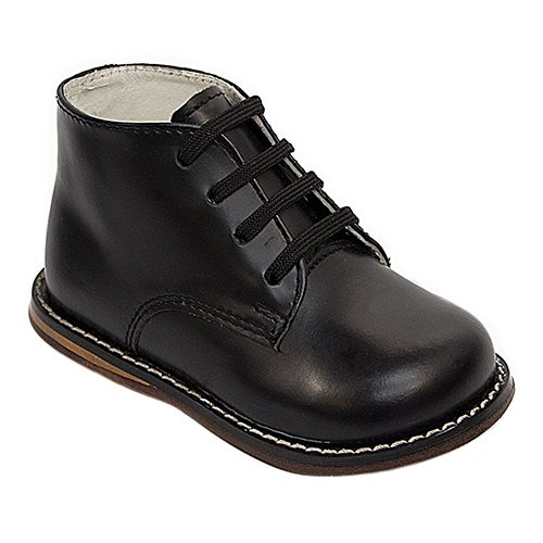 Josmo Baby Unisex Walking Shoes First Walker, Black, 6 Medium US Infant ()