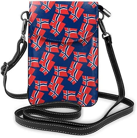 ミニバッグ スマホポーチ 斜めがけ ミニポシェット ノルウェー国旗モード ミニショルダーバック 携帯 ケース ミニポーチ おしゃれ 人気 かわいい 小さめ 多機能 軽量 プレゼント レディース