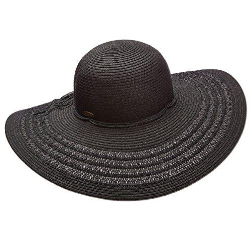 Panama Jack Women's Paper Braid Packable Sun Hat, 4