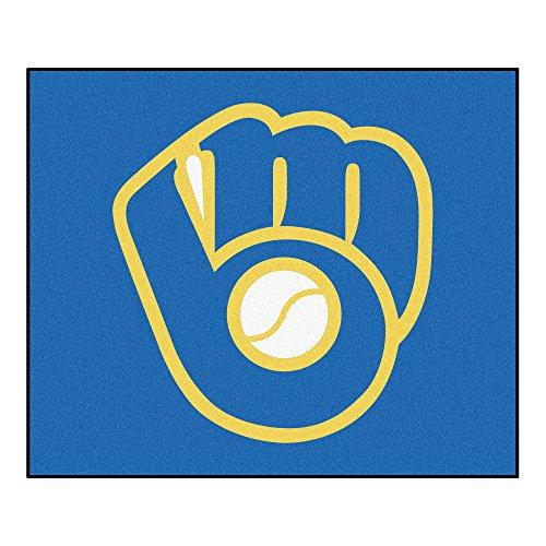 FANMATS 16841 MLB - Milwaukee Brewers Glove Tailgater Rug