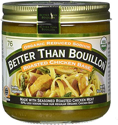 Better Than Bouillon Organic Roasted Chicken Base, Reduced Sodium - 16 oz