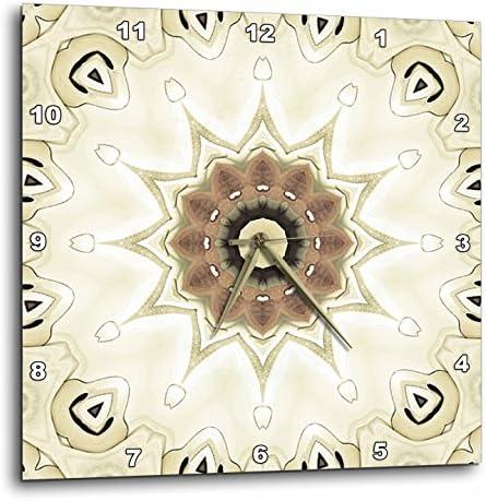 3dRose Houk Digital Abstraction Art Fancy Kaleidoscopes – Elegant Gemstone Decorative Special Star Mandala – 15×15 Wall Clock DPP_42057_3