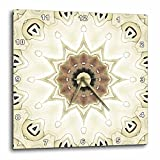 3dRose LLC Elegant GemsTone Decorative Special Star Mandala 10 by 10-Inch Wall Clock Review