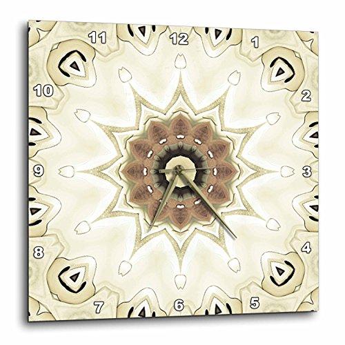 3dRose LLC Elegant GemsTone Decorative Special Star Mandala 10 by 10-Inch Wall (Gemstone Clock)