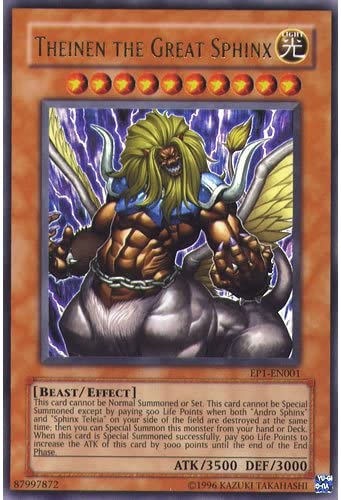 Theinen The Great EP1 Ultra Rare Set of 3! Yugioh Sphinx Teleia Andro Sphinx
