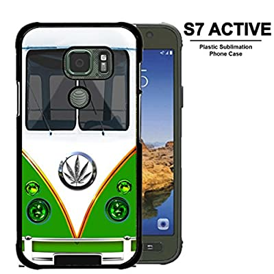 The 70s Hippie Weed Mini Green Van SAMSUNG GALAXY S7 ACTIVE (2016 MODEL) Hard Snap on Plastic Cell Phone Case Cover