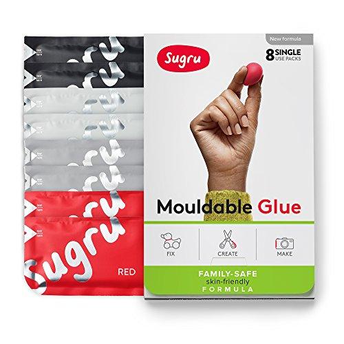 Sugru Moldable Glue - Family-safe | Skin-friendly Formula - Essential Colors 8-Pack
