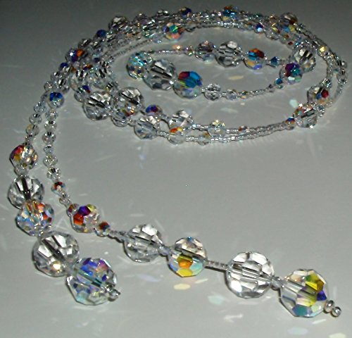 (Sparkling Swarovski Crystal Lariat Necklace)