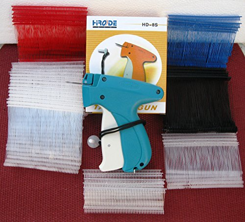 New Regular Standard Garment Clothing Price Label Tagging Gun 2000 barbs 1 Needle (Where To Buy Red Contacts)