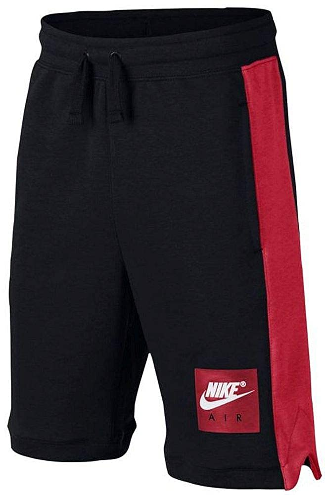 Size 5 Black//Red Nike Air Boys Knit Shorts