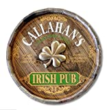 Irish Pub Personalized Barrel End Bar Sign