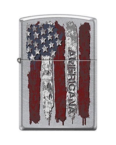 (Zippo Custom Lighter Design US American Flag with Americana Inscribed Windproof Collectible Lighter - Cool Cigarette Lighter Case Made in USA Limited Edition & Rare)