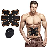 stomach electric belt - 6 Pack Abs Toner Wireless Ab Trainer ABS Toner, Abdominal Muscle Trainer Stimulator, Portable Wireless Unisex Fitness Training Gear Belt, Use At Home Office Workout