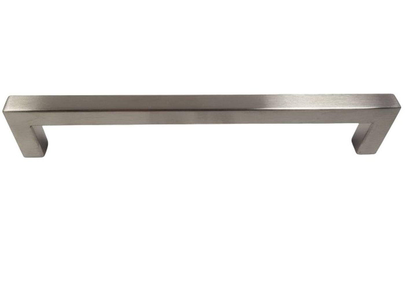 Juego de 10 x SO-TECH/® Manija Barral Manija de MuebleE8 ACERO INOX 10 x 10 mm Tirador de Mueble Distancia Agujeros 128 mm