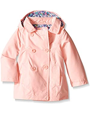 Baby Girls' Solid Poly Trench Coat