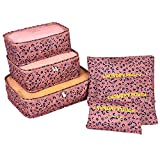 Emerayo Clearance!6Pcs Waterproof Travel Clothes Storage Bags Luggage Organizer Pouch Packing Cube to Protect Clothes, Pillows, Duvets, Comforters, Blankets (B, 6 Bags in Different Sizes)