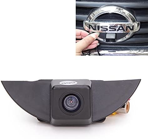 Misayaee Front View Logo Embedded Camera Parking System with CCD Waterproof IP67 Wide Degree Middle for X-Trail Tiida Qashqai Livina fairlady Pulsar Cube Armada Frontier Murano