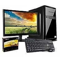 """pcWorks Mayoreo Computadora Completa Intel Celeron J3060 2gb Ram 160gb Monitor 18.5"""" Teclado y Mouse Escolar Oficina"""