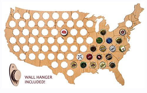 State Beer - USA Beer Cap Map - Solid 0.25