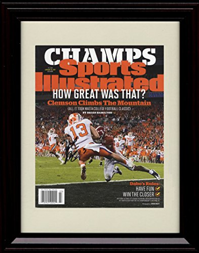 Framed Clemson Tigers National Champs! Sports Illustrated Autograph Replica Print - Hunter Renfrow Catch
