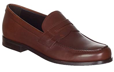 426d3c8014 Amazon.com | Prada Men's Brown Leather 2DB135 Slip on Loafers Shoes ...