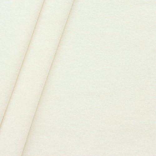 Puños de algodón tela lisa color crema-blanco: Amazon.es: Hogar