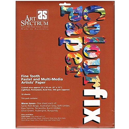 Art Spectrum Colourfix Paper Rainbow Packs warm tones pack of 10