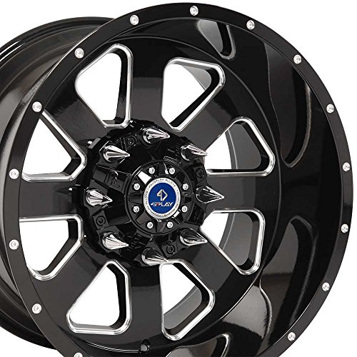 ford 8 lug black rims - 1