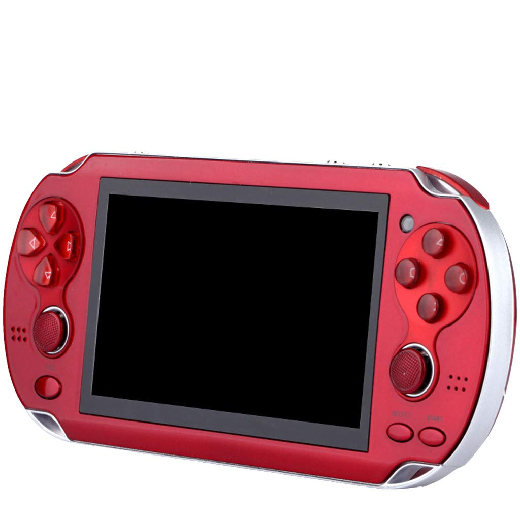 Huangou PSP Games,Retro Classic Game Console Handheld Portable 800 Built-in 4.3 Inch Games (Red, 11.5 x 8.5 x 9cm) by Huangou (Image #2)