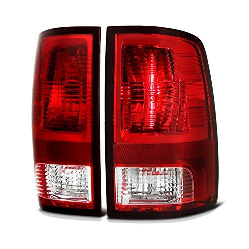 VIPMOTOZ Factory Style Tail Light Lamp For 2009-2018 Dodge RAM 1500 2500 3500 - [Factory Incandescent Model] - Rosso Red Lens, Driver & Passenger Side