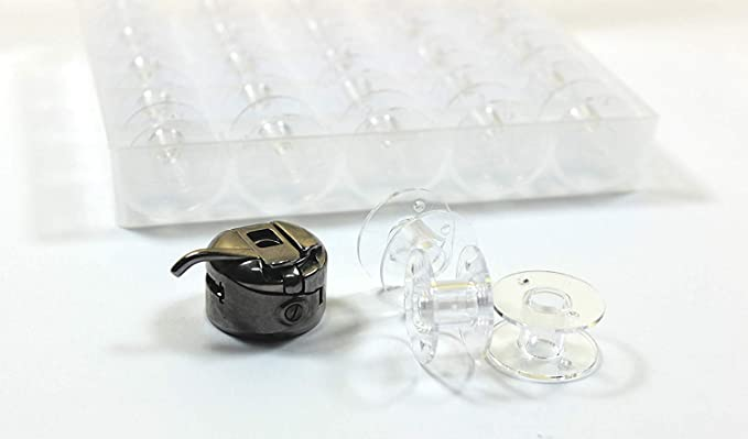 La Canilla ® - Caja de 25 Canillas Bobinas Transparentes para ...