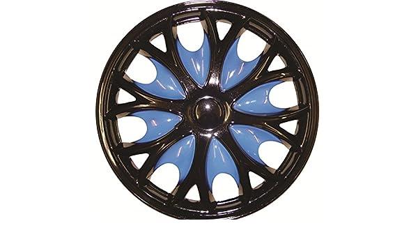 Tapacubos azul XtremeAuto® Comet PRO, fijación, tapas de válvulas, para ruedas de 38,1 cm (incluye adhesivo XtremeAuto): Amazon.es: Coche y moto