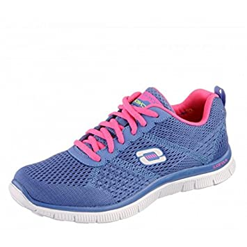 Skechers Flex Appeal Obvious Choice Periwinkle/Pink Running Shoes for Women