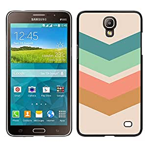 Stuss Case / Funda Carcasa protectora - Flecha Modelo en colores pastel Verde Marrón; - Samsung Galaxy Mega 2