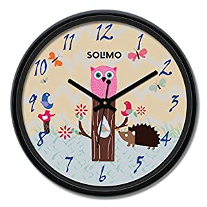 Amazon Brand – Solimo 12-inch Wall Clock – Play Time (Silent Movement)