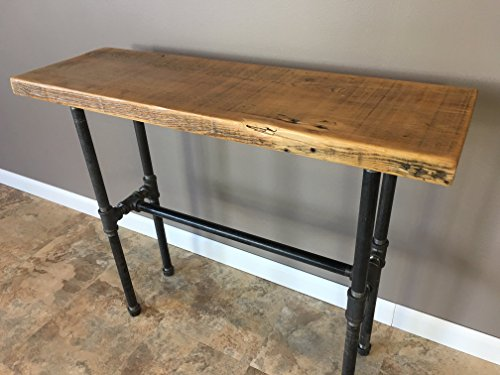 Entry Table, Hallway Table, Nook Table, Reclaimed Wood Table, Wood Table, Pipe Table, Reclaimed Wood FAST FREE SHIPPING ()