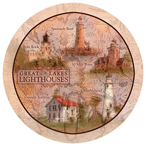 Thirstystone Stoneware Coaster Set, Great Lakes Lighthouses ()