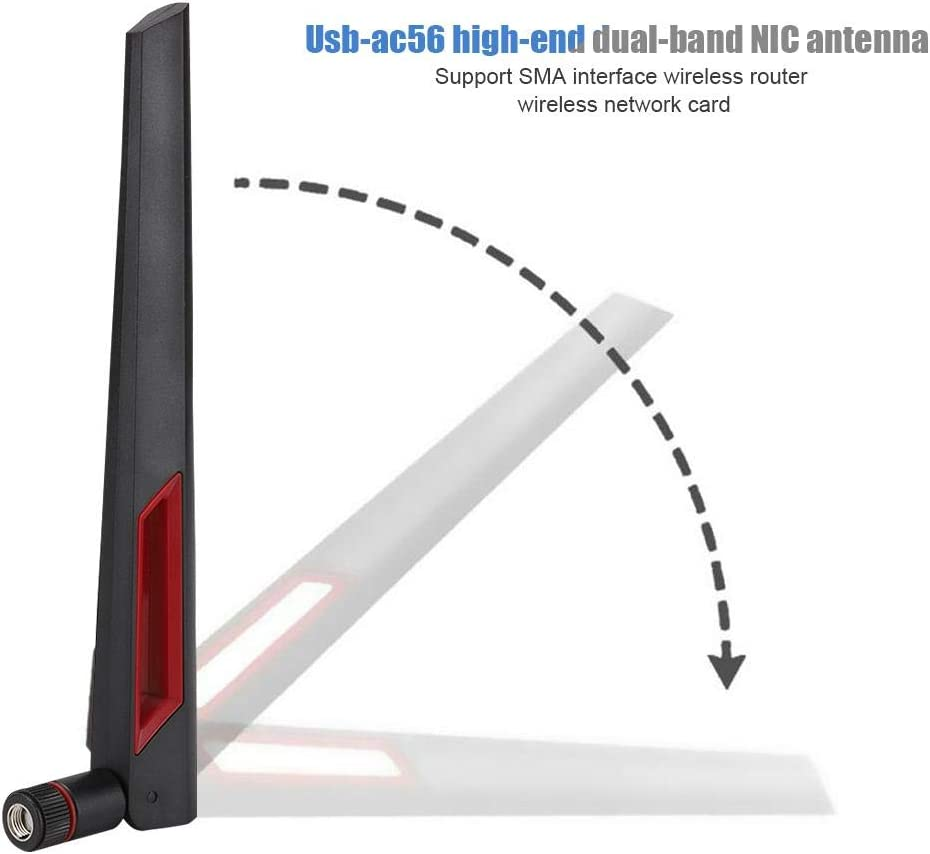 3 6dBi 2.4G 5G 5.8G WiFi RP-SMA Antennas for Asus Routers RT-AC66U High Quality