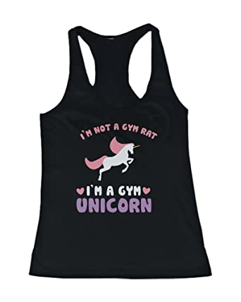 39067d82 Amazon.com: Not a Gym Rat I'm a Gym Unicorn Funny Women's Workout Tanktop  Fitness Clothing: Clothing