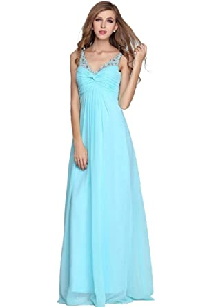 Cheap Long Chiffon Prom Homecoming Dresses for Women Juniors Party Gowns