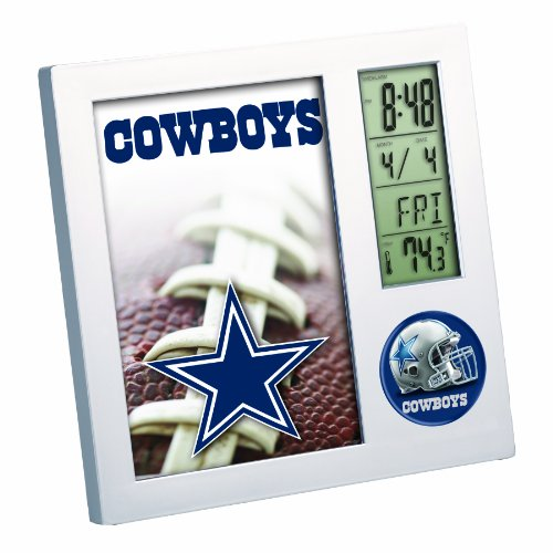 NFL Dallas Cowboys Digital Desk Clock (Dallas Cowboys Alarm)