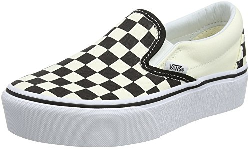 Bww Checker Platform Slip on White White Vans and Classic On Women��s Trainers Black Slip Black 6aqwFn