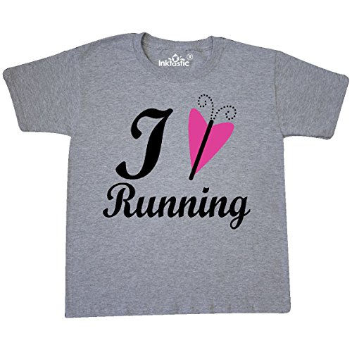 inktastic Runner Fitness Youth T-Shirt Youth X-Large (18-20) Athletic Heather