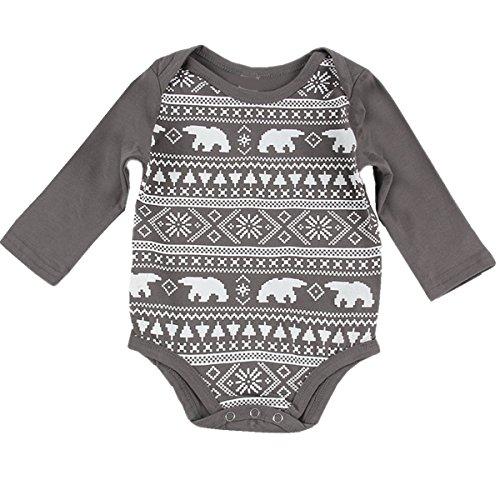 puseky Newborn Sleeve Bodysuit Onesies