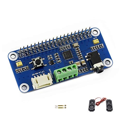 Waveshare WM8960 Hi-Fi Sound Card HAT for Raspberry Pi Support Stereo Encoding/Decoding Features Hi-Fi Playing/Recording can Directly Drive Speakers to Play Music I2C I2S Interface