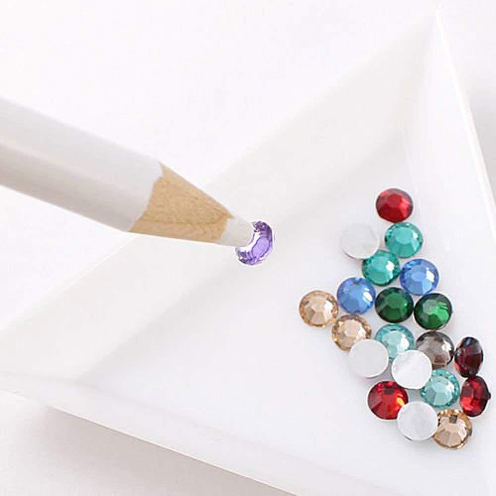 Nail Art Rhinestones Set, Saviland Glitter Micro Diamond Gems+ Wax Pencil+ Nail Glue, Nail Art Decoration Manicure Sets